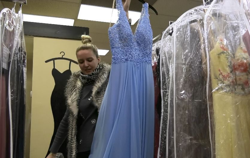 A new designer dress at Dynamite Designs by Kristen, 1157 N. Colony Rd. |Ashley Kus, Record-Journal