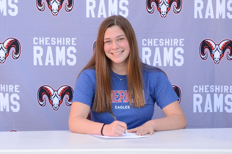 Cheshire High senior Mary Barto has signed to swim at American University in Washington D.C.