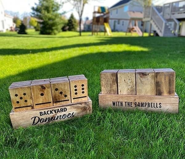 Some of the backyard games available at Board & Brush in Southington. | Submitted photos