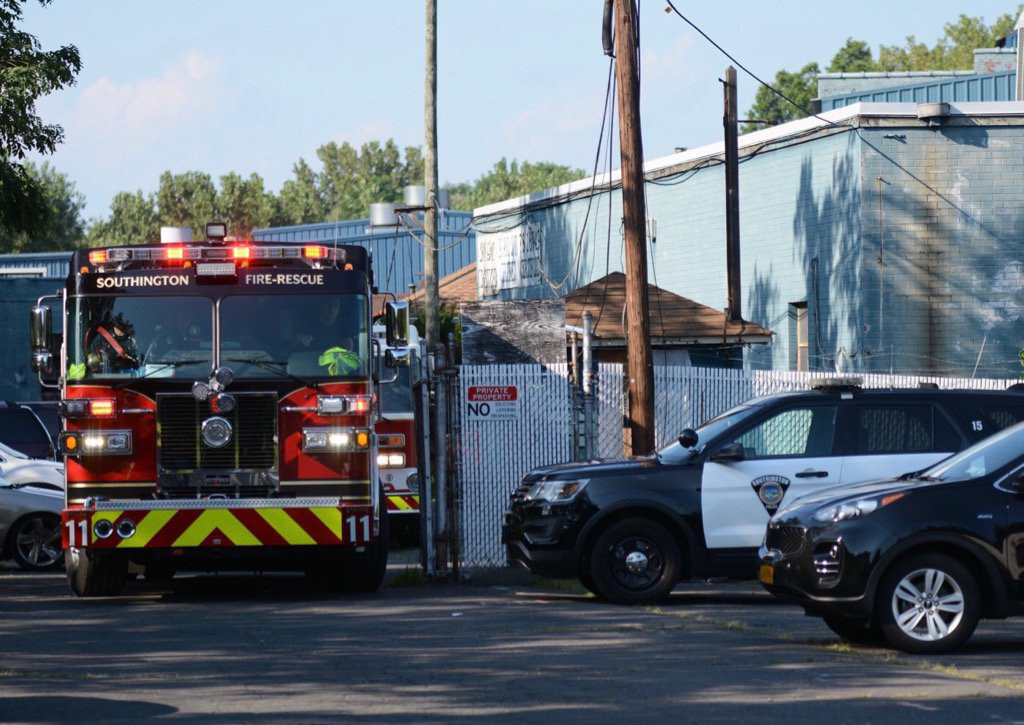 Emergency crews responded to a report of a serious industrial accident at Rex Forge on Atwater Street in Southington around 4:30 p.m. on Wednesday. | Bryan Lipiner, Record-Journal