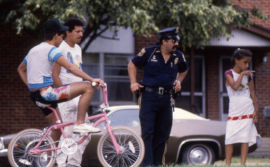 RJ file photo - Outside the Mills Memorial Apartments in Meriden, Aug. 1989.