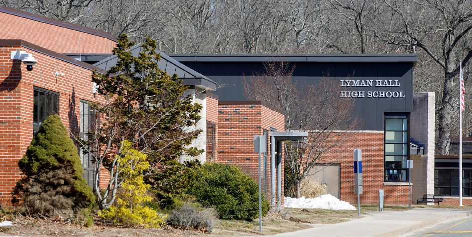 Lyman Hall High School in Wallingford, Mon., Mar. 8, 2021. The Board of Education wants to conduct a study on the feasibility of consolidating the high schools at the Lyman Hall campus. Dave Zajac, Record-Journal