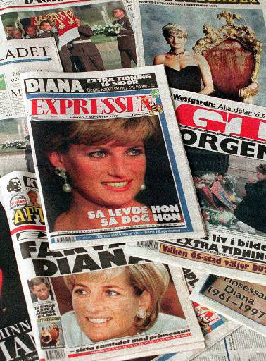 14++ Princess Diana Death Newspaper