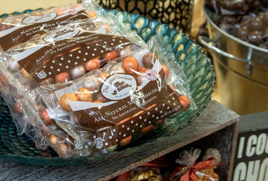 Bags of Thompson Chocolate's Autumn Marbles are available at the Meriden store.