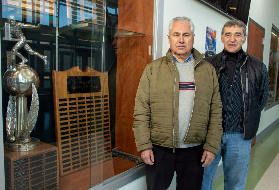 Meriden's 2020 Sportsmen of Distinction Gary Desjardins, left, and Joe Annino Sr. will get their night next spring. Amid ongoing concerns over the COVID-19 pandemic, the Meriden Sports Reunion committee has opted to postpone this year's event to 2021. Aaron Flaum, Record-Journal