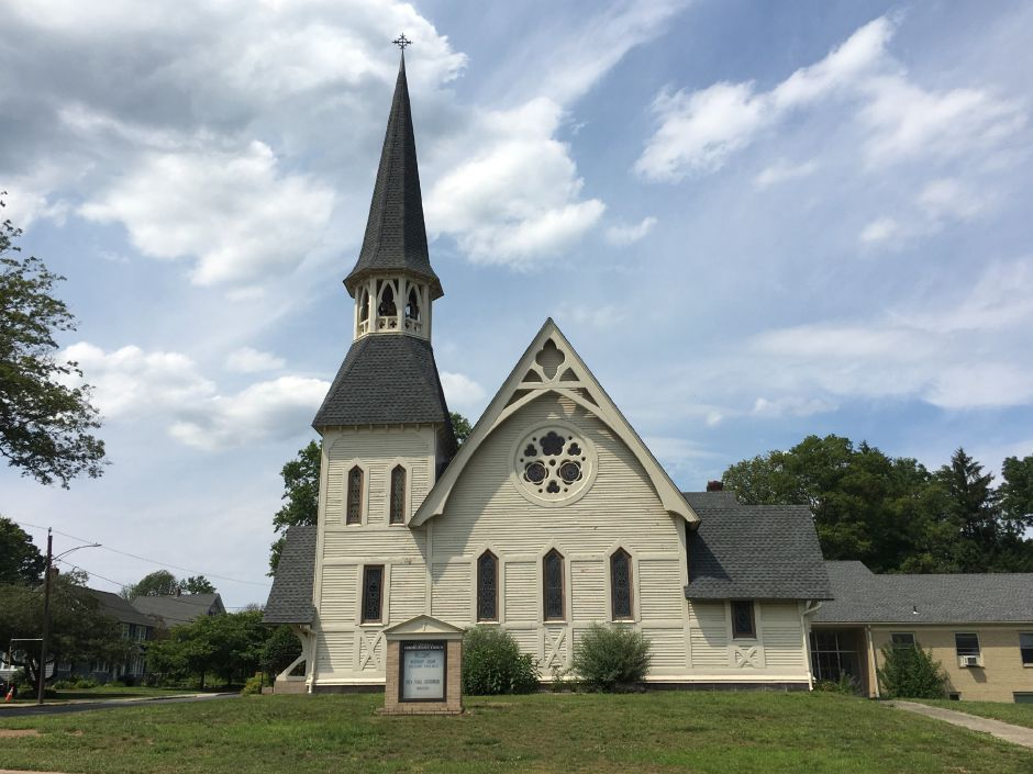 July 2017: The Plantsville Congregational Church looks much like it did 27 years ago, when the church was renovated. | Lauren Takores, Record-Journal