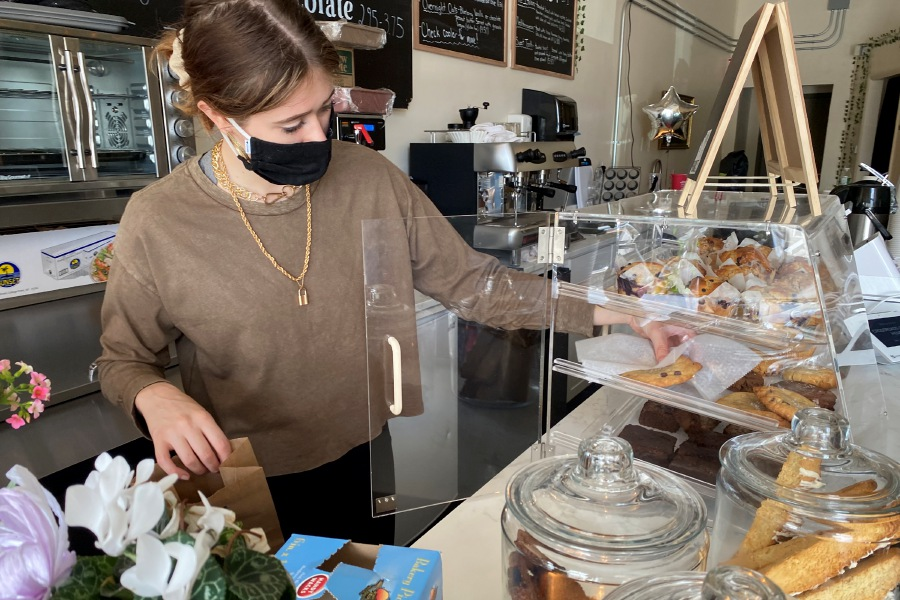 Montana Telman has opened a new eco-friendly coffee shop called crossroads., located at 1878 Hartford Turnpike, North Haven. Along with hot and iced coffee, tea and hot chocolate, the business offers baked goods. Faith Williams, Record-Journal