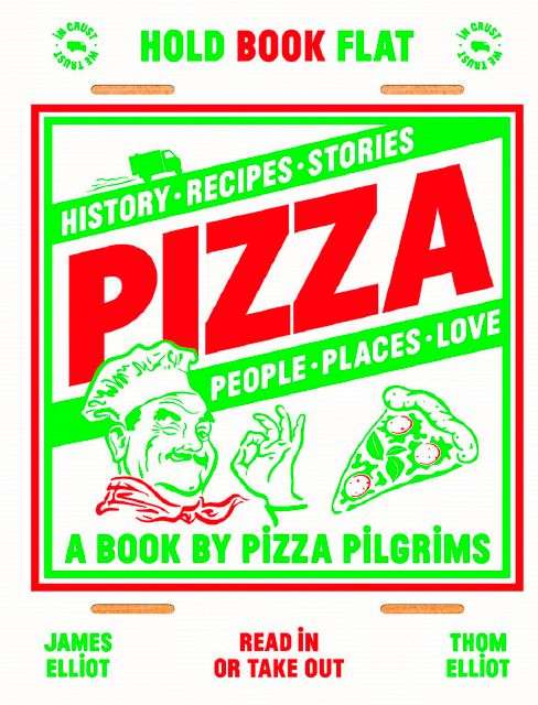 "This cover image released by Quadrille shows ""Pizza: History, recipes, stories, people, places, love"" by Thom Elliot and James Elliot. (Quadrille via AP)"