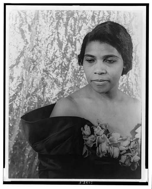 Marian Anderson.  Library of Congress