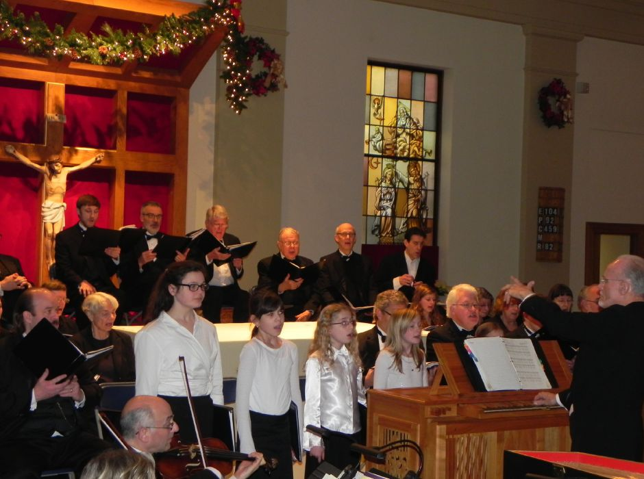 The New England Chamber Choir in concert.