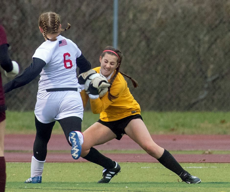 Sheehan goalie Elizabeth Arnold, a four-year player with the Titans, will continue her soccer career at Division I Iona College. Aaron Flaum, Record-Journal