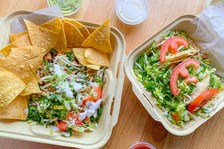 The tortillas are practically hidden underneath all of the delicious toppings at Tacos Mi Nachos. Featured here are chicken tostadas and chicken tacos. Lindsay Pytel, special to Record-Journal