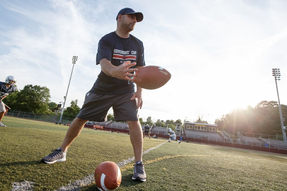 With 11-on-11 tackle football out for the 2020 fall season, the SCC expects to present plans for a 7-on-7 football program to its member schools on Tuesday. Record-Journal file photo