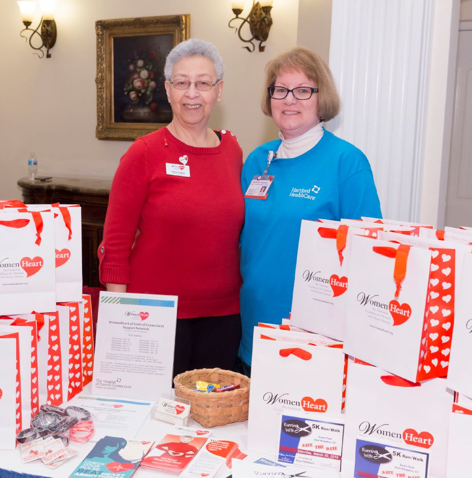 WomenHeart champions Sharon Corlette, left, and Pat Srenaski, BSN, RN, provide information about the women's cardiovascular support and education group at Healthy Family FunFest in 2019. | Photo by Rusty Kimball