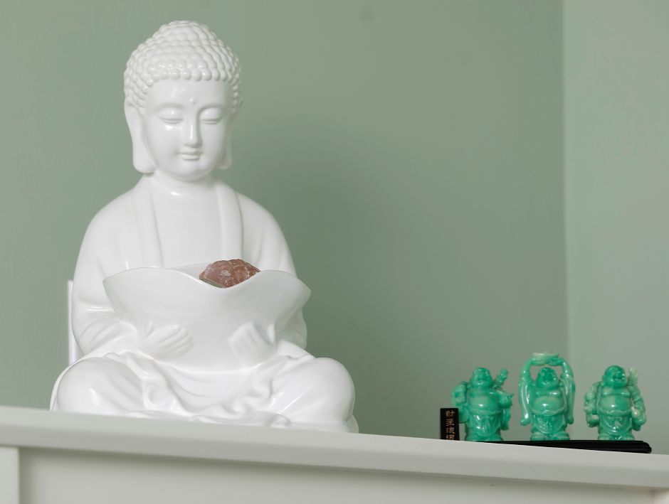 Buddha figures in the reflexology, acupuncture and Reiki room at Dr. Christine M Thorn, LLC, 1090 Meriden Waterbury Turnpike., Southington, Mon., Jul. 13, 2020. Dave Zajac, Record-Journal