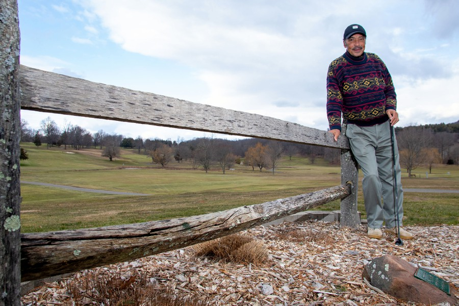 Frank Eaton of Meriden, at Hunters Memorial Golf Course in Meriden on Jan. 19, 2021. Aaron Flaum, Record-Journal
