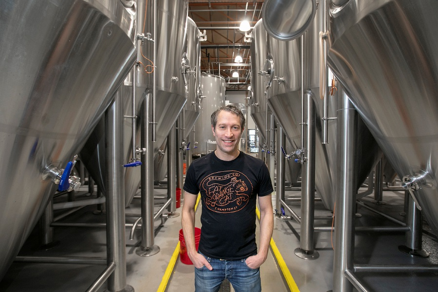 Alex Blank is co-owner of Twelve Percent Beer Project, at 341 State St., North Haven. Dave Zajac, Record-Journal