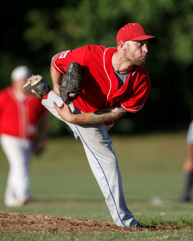 Charlie Hesseltine threw seven innings of relief and made two dramatic diving catches in the outfield in the Record-Journal Expos' epic 11-10 Greater Hartford Twilight League victory over the East Hartford Jets in 14 innings on Thursday night at Ceppa Field. Record-Journal file photo