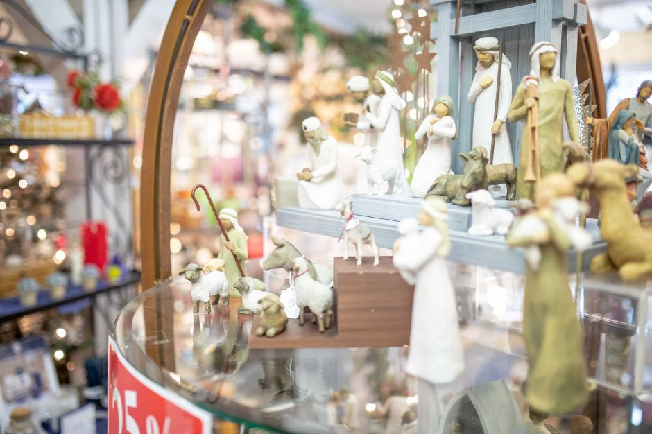 Gifts on display at The Old Blue Barn in Plainville. After 25 years in business, the gift shop will be closing down to allow the owner to retire. | Devin Leith-Yessian/Plainville Citizen