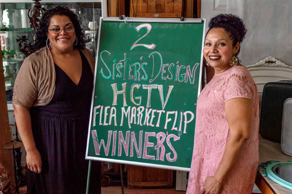 Sisters, Darlene (left) and Paula Charneco of Meriden, were winners on the HGTV show