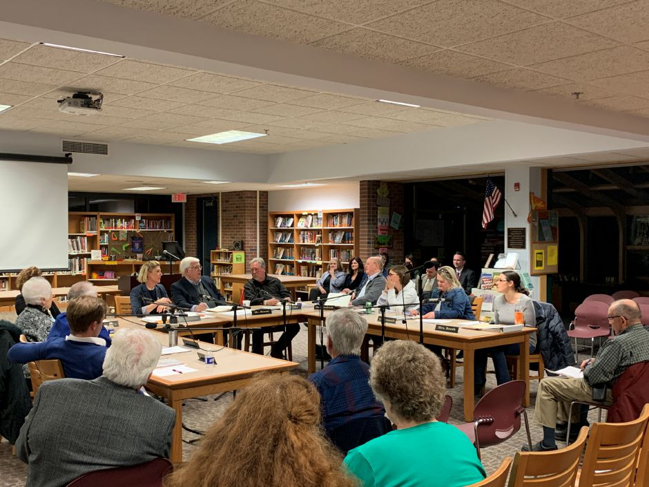 After having their amendment to their regionalization plan rejected at referendum, the RSD-13 Board of Education met to discuss next plans and possible revisions to the amendment. Photo by Everett Bishop, Town Times