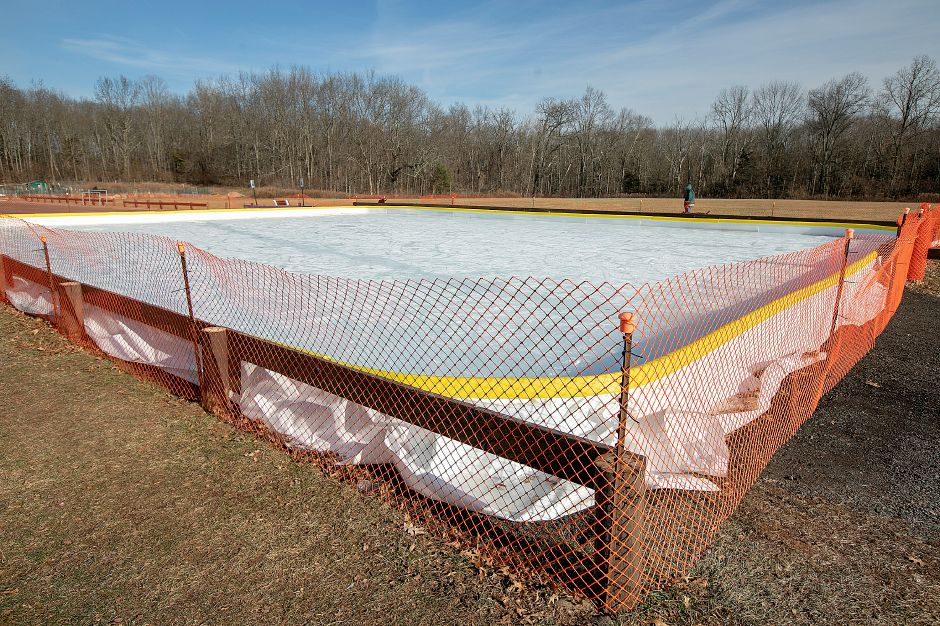 The ice rink at Bartlem Park in Cheshire as it appeared on a sunny day in January 2019. Dave Zajac, Record-Journal