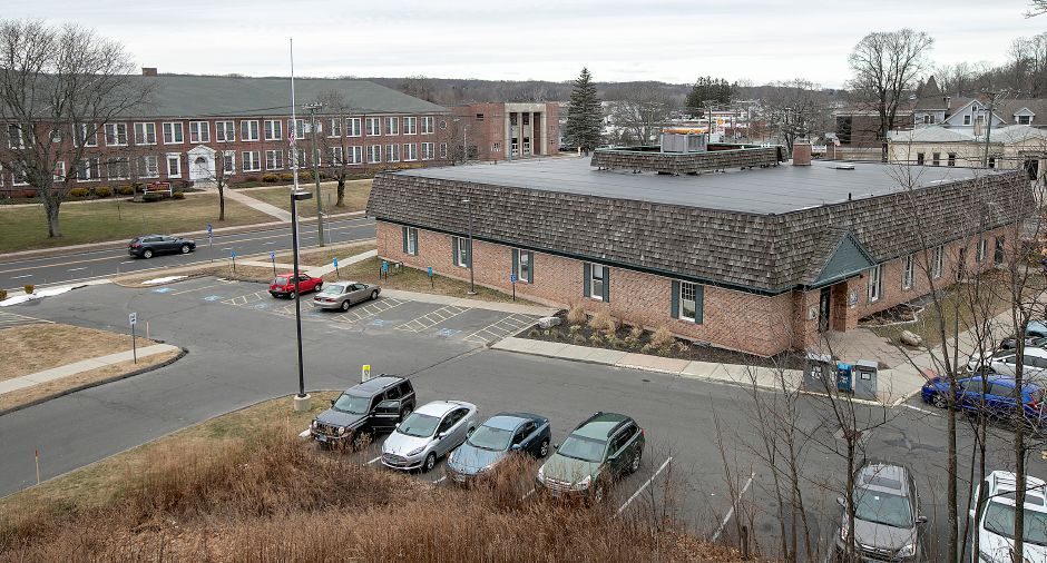 The Southington Public Library at 255 Main St. Dave Zajac, Record-Journal