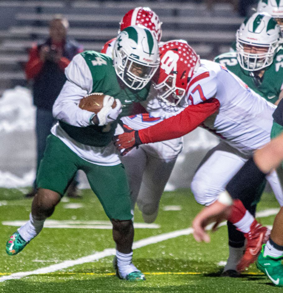 In rushing for 170 yards in Wednesday's 35-7 Class L quarterfinal win over Berlin, Maloney junior running back James Tarver broke the school's single-single rushing record and moved to 1,955 yards on the season.