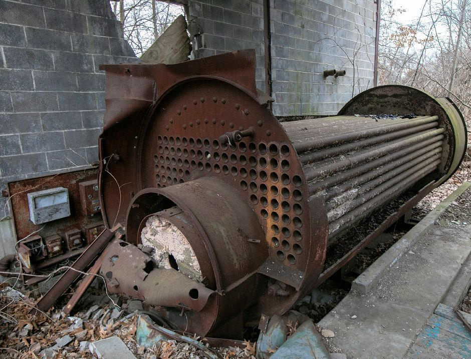 Dilapidated equipment on the former Beaton & Corbin factory site on North Main Street in Southington, Tues., Jan. 14, 2020. A local developer has proposed a commercial plaza for the site. Dave Zajac, Record-Journal