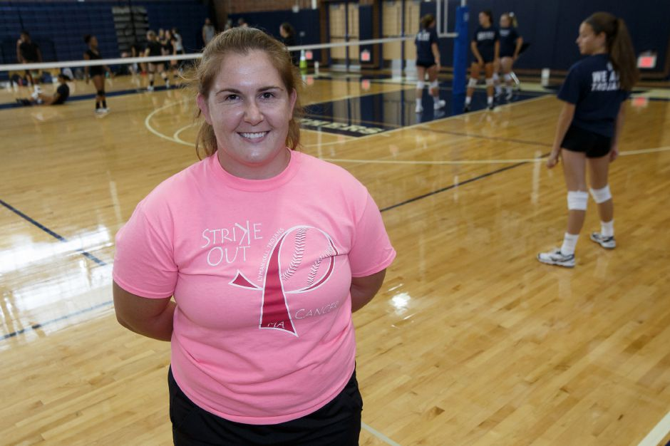 One-time Sheehan Titan Marion Kish is the new head coach of Lyman Hall volleyball. | Justin Weekes / Special to the Record-Journal