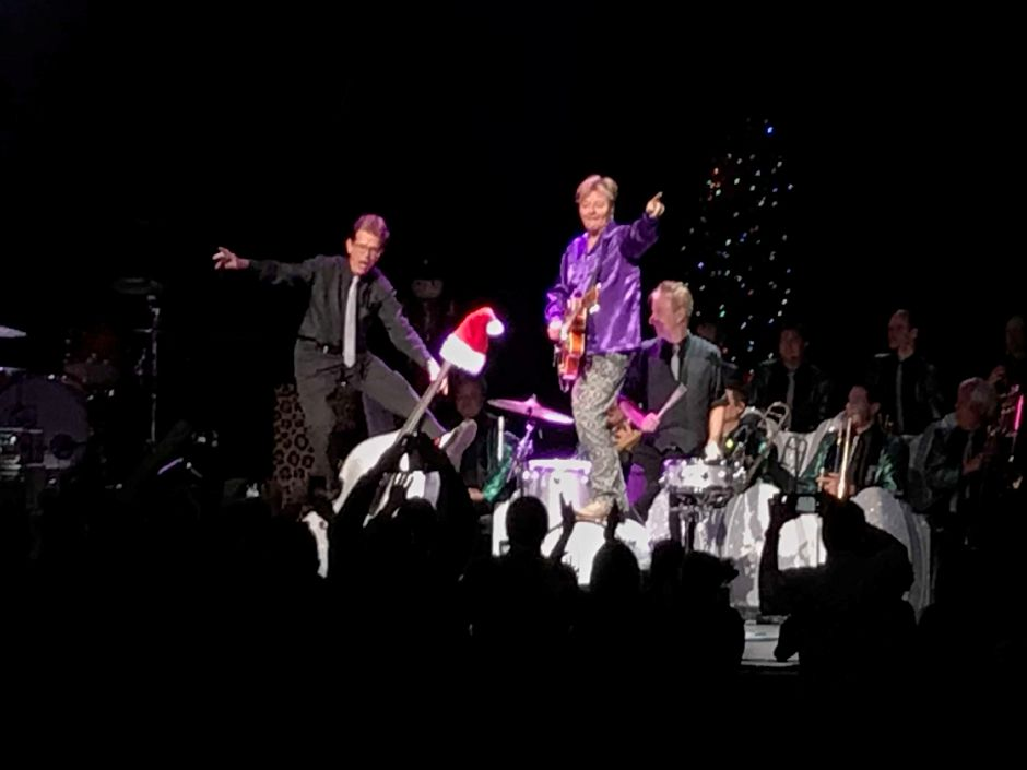 The Brian Setzer Orchestra performs their Christmas Rocks! show at Foxwoods Resort & Casino Nov. 23, 2018. | Jim Pasinski, Special to the Record-Journal