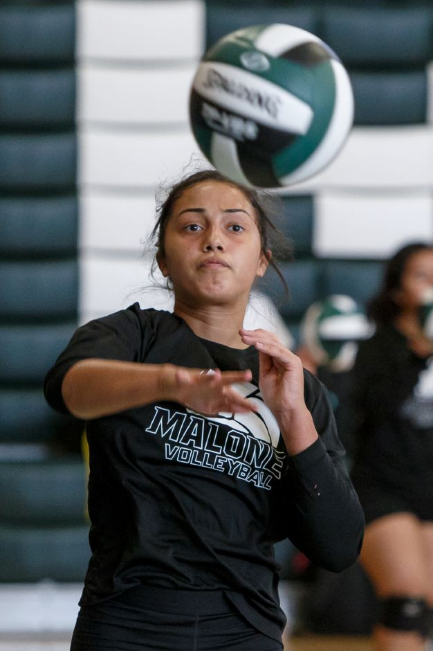 Laila Martinez, a staple of the Maloney rotation last year as a sophomore, returns to the Spartans for her junior season. Maloney opens at home Friday against Middletown. | Justin Weekes / Special to the Record-Journal