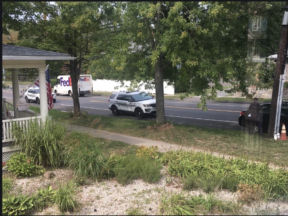 Wallingford police stop a car while investigating a crash involving a motorcycle on Route 5 on Friday, Sept. 18, 2020 (Lauren Takores |Record-Journal)