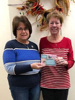Pre-pandemic, the Woman's Club of Plainville donated $900 to the Plainville Community Food Pantry, Inc. to be used for repairs needed on its delivery van. Pictured, from left: Phyllis Roche, Woman's Club of Plainville, and Susie Woerz, executive director of the food pantry. To make a donation, or for more information about the food pantry, visit plainvillefoodpantry.org.