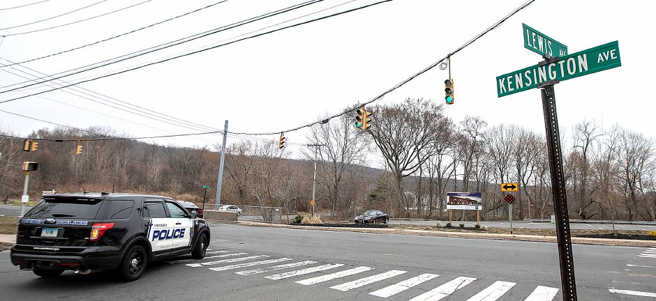 A Meriden police vehicle proceeds through the intersection of Kensington and Lewis Avenue in Meriden, Tues., Apr. 9, 2019. Dave Zajac, Record-Journal