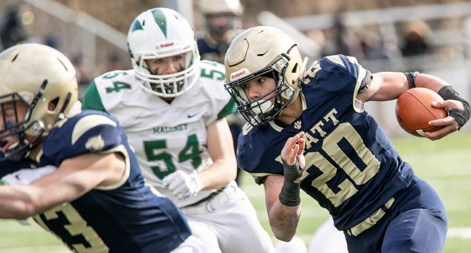 The last time Platt and Maloney tangled in football was in the 2019 Stoddard Bowl. They'll meet as independent teams on Saturday at Falcon Field at 4 p.m. Dave Zajac, Record-Journal
