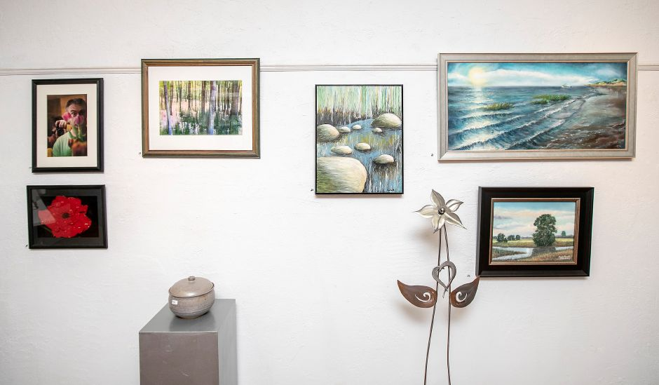 Various artwork displayed as part of The Leap Year Show at Gallery 53 on Colony Street in Meriden, Thurs., Feb. 20, 2020. Dave Zajac, Record-Journal