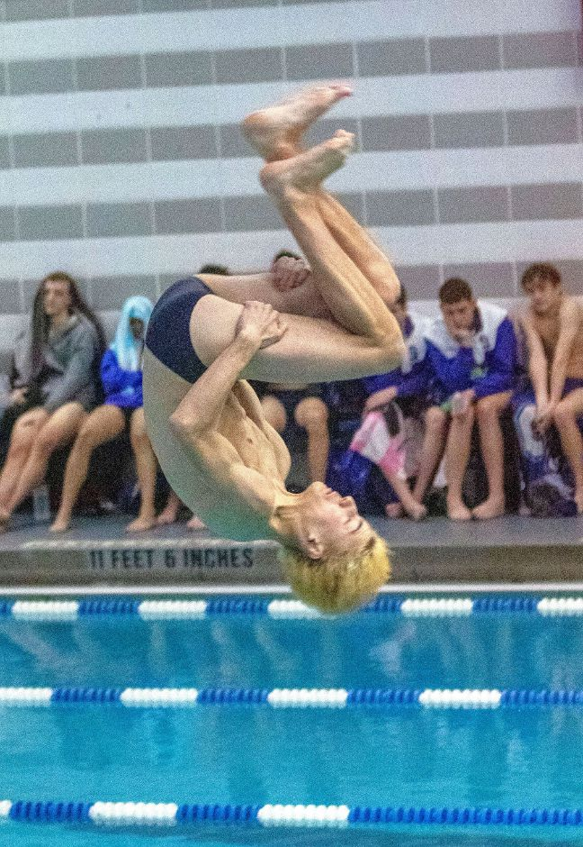 "Southington's Emerson ""E.J."" Suski had the area's best six-dive score this winter with a 257.95. He later placed third in the CCC West championship meet.  Aaron Flaum, Record-Journal"