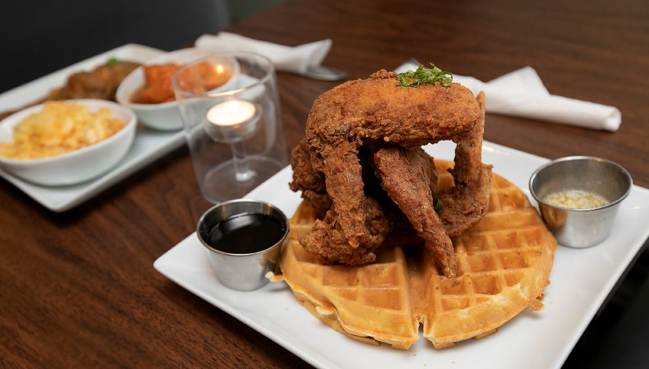 Chicken waffle at Americansoul Kitchen and Bar.