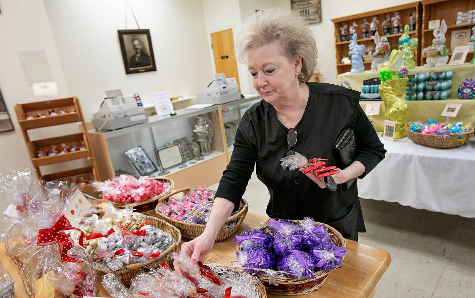 Jane Costello, of Meriden, shops Tuesday for Valentine's Day chocolate gifts for her grandson at Thompson Chocolate, 80 S. Vine St. in Meriden. Costello shops at the store around the holidays, including her birthday, which falls on Valentine's Day. Thompson Chocolate is one of 18 stops on the Connecticut Chocolate Trail. Dave Zajac, Record-Journal