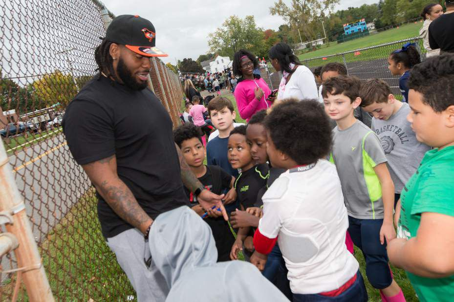 Meriden native John Jenkins, a seven-year NFL veteran at defensive tackle, was signed by the Chicago Bears on Tuesday. Jenkins, now 30, graduated from Maloney High School in 2009. / Record-Journal file photo
