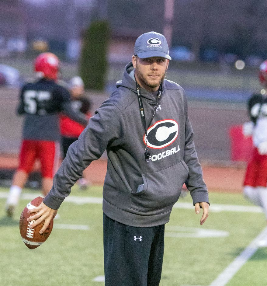 "Cheshire's Don Drust, like other high school football coaches in Connecticut, is looking at alternatives for his team now that the CIAC has cancelled the fall season. ""I think all options are open right now. We want to give our kids as best of an experience as we can,"" Drust said. Aaron Flaum, Record-Journal"