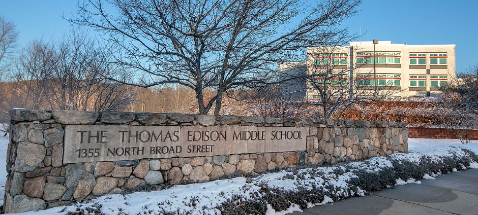 Thomas Edison Middle School in Meriden, Wed., Dec. 11, 2019. The Meriden Board of Education formed a committee earlier this month aimed at reviewing the district's middle school enrollment. Dave Zajac, Record-Journal
