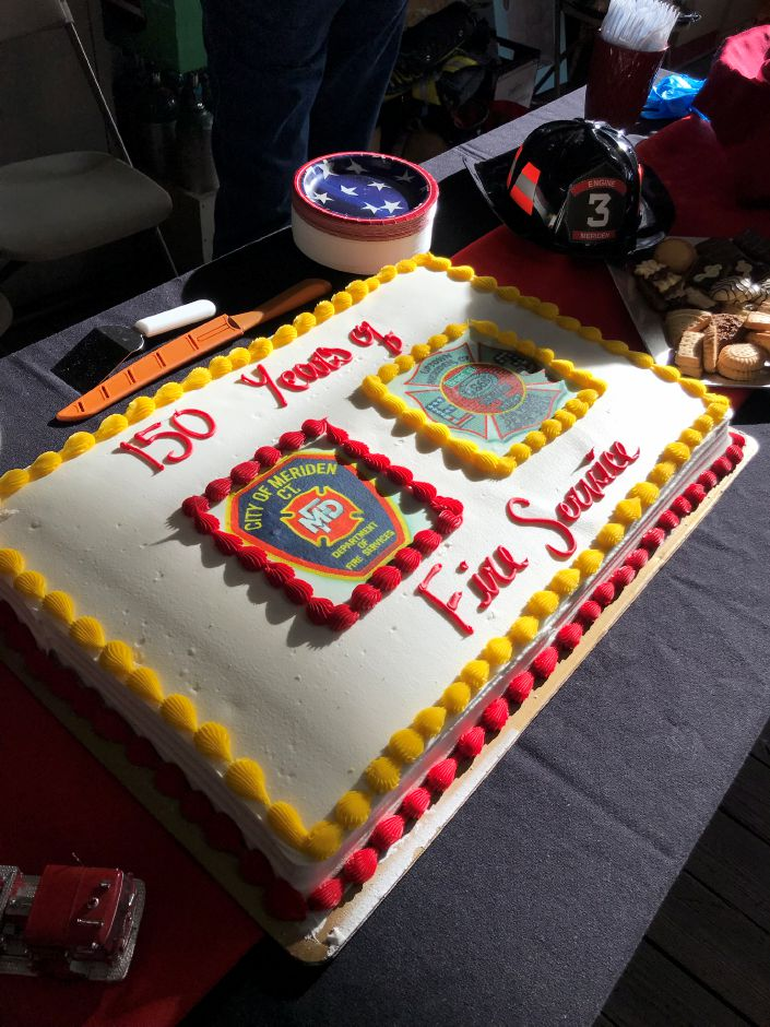 The Meriden fire department — specifically Company 3 — celebrated its 150th anniversary with a gathering at its Broad Street station Saturday afternoon. | Steven Scarpa, special to the Record-Journal.