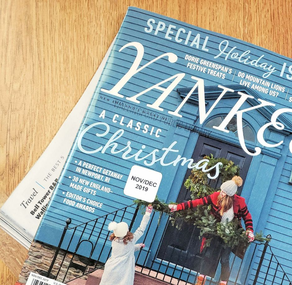 The cover of  Nov/Dec Edition of Yankee Magazine