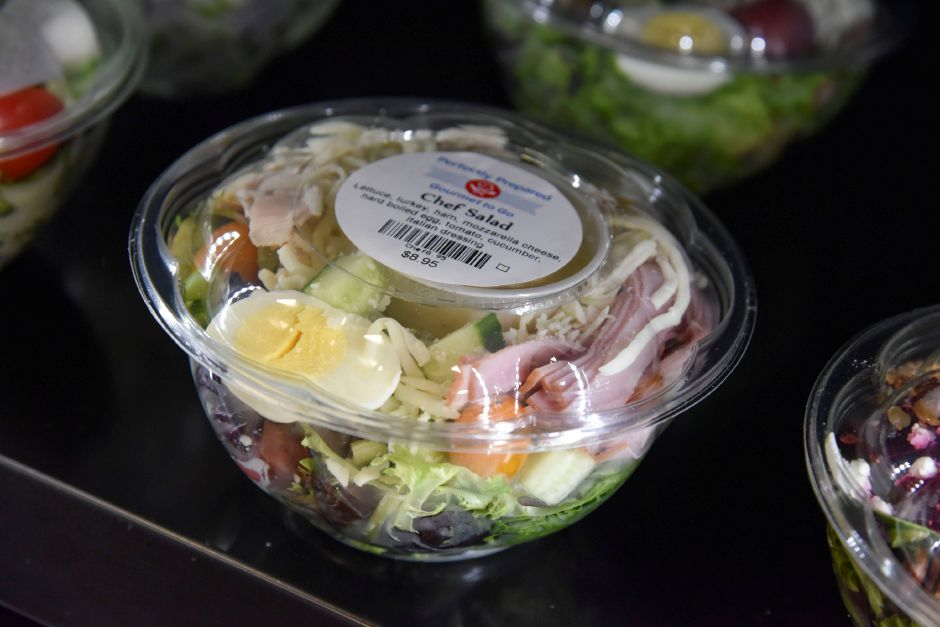 The Chef Salad available at Perfectly Prepared, Gourmet to Go in Cheshire, pictured on Wednesday, August 28, 2019. | Bailey Wright, Record-Journal