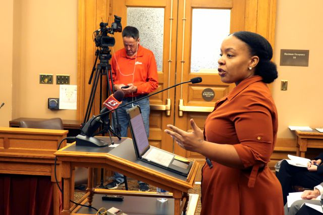 FILE - In this Jan. 28, 2020, file photo, Michele Watley, founder of Shirley
