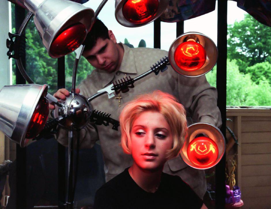 Model Brook Bousquet and Stylist Vincent Luca from Salon Joseph are a winning team, June 1999.