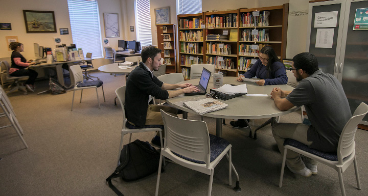 Students and staff work in a study room at Middlesex Community College in Meriden, Monday, March 6, 2017. | Dave Zajac, Record-Journal