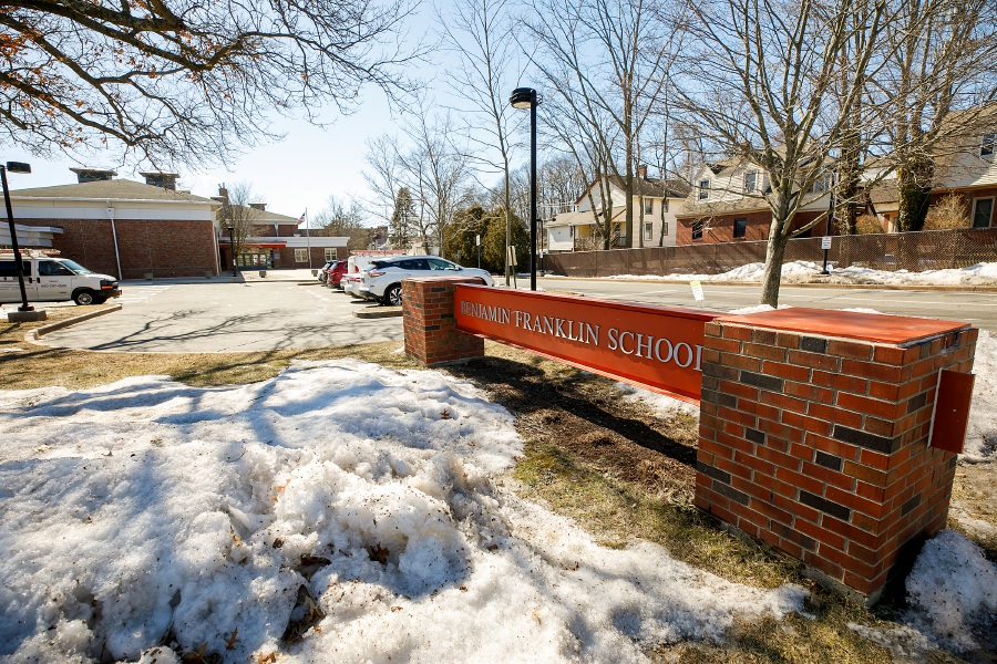 Benjamin Franklin School, 426 W. Main St., Meriden, Tues., Mar. 2, 2021. First Lady Dr. Jill Biden and U.S. Secretary of Education and Meriden resident Dr. Miguel Cardona will visit Benjamin Franklin Elementary School on Wednesday. Dave Zajac, Record-Journal